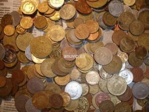 Monedas mundiales por continentes al peso