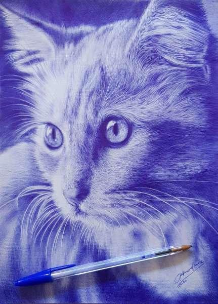 Realizo retratos de gatos o mascotas personalizados